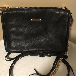 Rebecca Minkoff Black Crossbody Bag with fringe